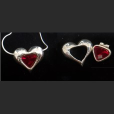 Ruby Heart Dual Design Pendant